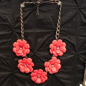 Women's Coral Flower Necklace